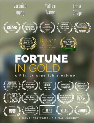 """Veronica Crystal Young in """"Fortune in Gold: A Homeless Woman's Final Journey"""" - Award-winning movie"""