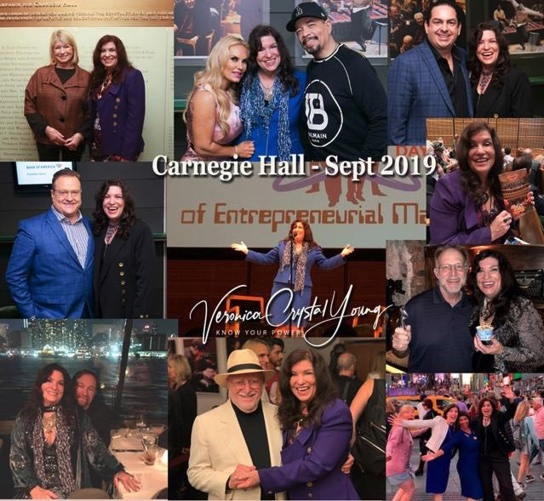 Veronica Crystal Young at Zankel Hall, Carnegie Hall, New York City, with Martha Stewart, Ice-T & Coco, Walter O'Brien, Jerry of Ben & Jerry's, Michael E. Gerber, and Dylan S. Howard
